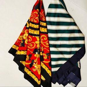 Pair of 100% Silk Scarves